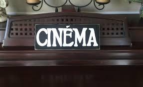 cinema french home theater decor room sign primitive paris