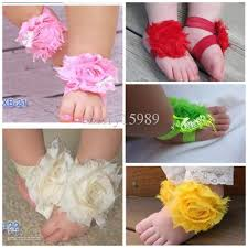 shabby flowers top baby barefoot sandals shabby flowers shoes foot