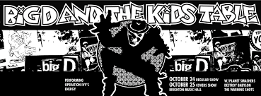 big d and the kids table announce halloween shows and operation