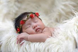 asian headband asian baby girl sleeping on cloth wearing roses flickr