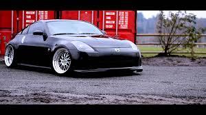 Nissan 350z Black - black beauty scott u0027s slammed 350z youtube