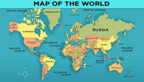 world map world map with countries general knowledge for mocomi