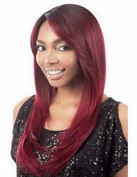 sale synthetic straight african american ombre auburn wig for