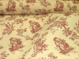 red u0026 natural cream linen look toile de jouy curtain upholstery fabric