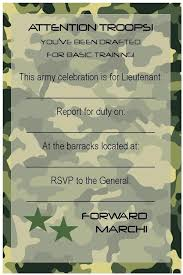 camouflage party invitation template free birthday party