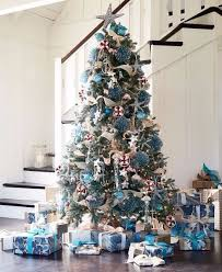 a coastal tree that sparkles shines with blue