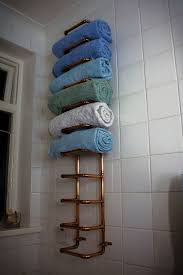 towel rack ideas for bathroom copper pipe towel rail