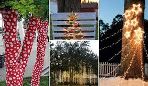 Christmas Decorations Outdoor Trees by Wooden Christmas Decorations Produced From Juniper Tree Decor