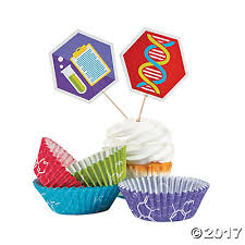 party cupcake wrappers with picks