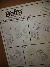 Delta Soho 5 In 1 Convertible Crib by Black Delta Soho 4 In 1 Convertible Crib W Mattress For Sale In