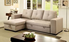 American Living Room Furniture Furniture Of America Tralla Ivory Sectional With Chaise Storage