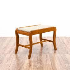 curved maple vanity stool bench loveseat vintage furniture san diego