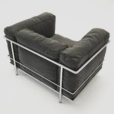 3d model cassina lc3 outdoor cgtrader