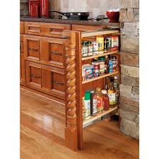 Kitchen Cabinet Spice Rack Slide by Rev A Shelf 30 In H X 3 In W X 23 In D Pull Out Between Cabinet