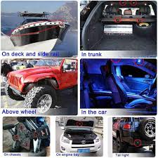 jeep boat sides amazon com wiipro led rgb rock lights kit cell phone app