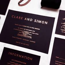 black and gold wedding invitations gold and black copper foil wedding invitation by made with