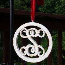 wooden monogram initial s ornament from sassy by sacha sassy by