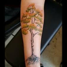 amazing birch tree on left forearm