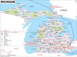 map of michigan michigan map map of michigan mi usa