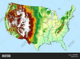 New York Relief Map by Shaded Relief Maps Of The United States Elevation Maps My Blog