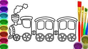 how to draw train coloring pages drawing for children learning