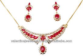 yellow gold gemstone necklace images Designer red gemstone necklace yellow gold diamond necklace set jpg