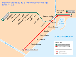 Metro Maps Metro Map Of Malaga Metro Maps Of Spain U2014 Planetolog Com