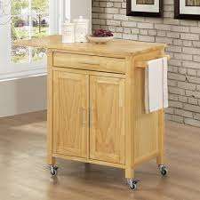 kitchen island with pot drawers crosley furniture natural wood top