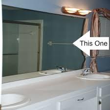 Large Bathroom Vanity Mirrors White Bathroom Vanity Top And Brown Mirror On Blue Tile Wall Of