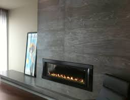 gas fireplace surround contemporary living room new york