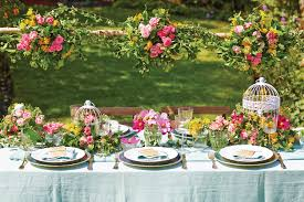 interior design cool garden themed table decorations wonderful