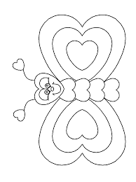 heartbutterfly valentines coloring pages u0026 coloring book