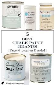 what is the best sealer for chalk painted kitchen cabinets the quaint sanctuary 5 best chalk paint brands with