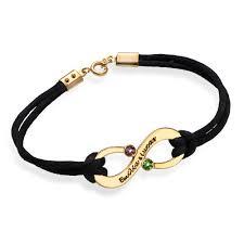bracelets with birthstones s infinity bracelet with birthstones 18k gold plating