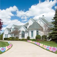 Valentine S Day Yard Decorations by Amazon Com Candy Heart Valentine U0027s Day Pathway Markers Set Of