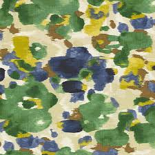 Drapery And Upholstery Fabric Blue And Green Dappled Watercolor Fabric Modern Drapery Fabric