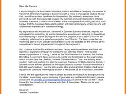 management consulting cover letter bain cover letter templates