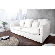 canape 3 places tissus canapé 3 places en tissu coloris blanc canapés banquettes