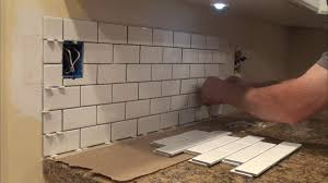 how to tile a backsplash you can do it too diy youtube
