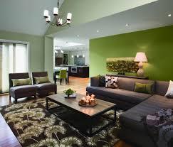green walls living room home design