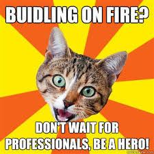 Fire Meme - buidling on fire cat meme cat planet cat planet