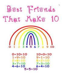 best friends that make 10 printable rainbow common core math k