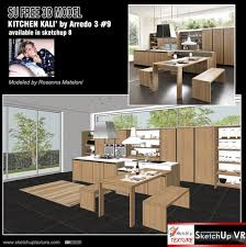 sketchup texture free sketchup 3d model modern kitchen 9 italian