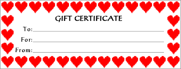 printable gift card free printable gift certificates bio exle