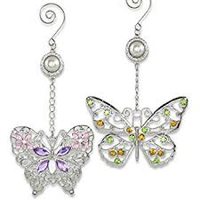 butterfly ornaments set of 3 colorful