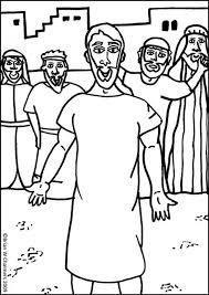 jesus heals coloring page kids coloring