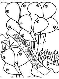 banner coloring pages birthday party decorated with balloons colouring page birthday