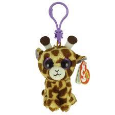 ty beanie boos safari giraffe glitter eyes plastic key