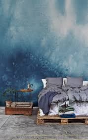 watercolour for your walls this sumptuous blue wallpaper design