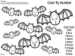 color number code fall halloween turkey number code bat